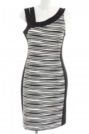 fe82b2427f29 Joseph Ribkoff Midikleid weiß-schwarz Streifenmuster Elegant