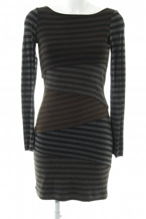 Joseph Ribkoff Tube Dress bronze-colored-light grey striped pattern casual look