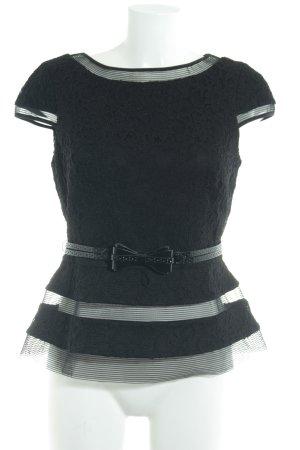Joseph Ribkoff Blusa in merletto nero stile  materiale misto