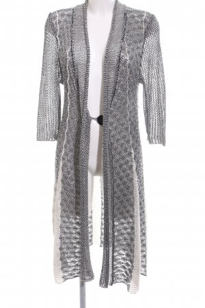 Joseph Ribkoff Knitted Coat light grey-white cable stitch casual look