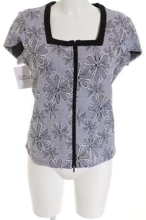 Joseph Ribkoff T-Shirt weiß-schwarz Blumenmuster Casual-Look
