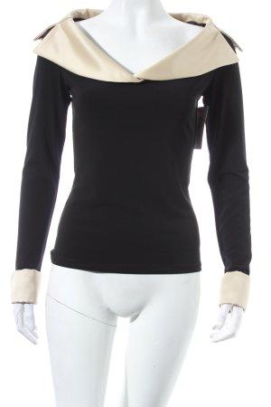 Joseph Ribkoff V-Ausschnitt-Pullover schwarz-goldfarben extravaganter Stil