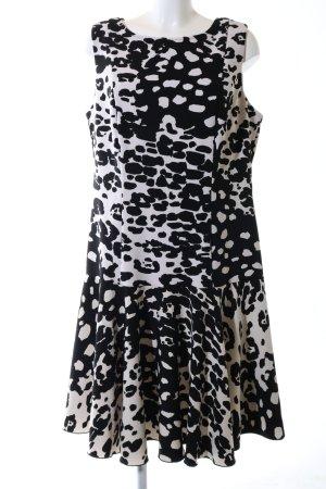 Joseph Ribkoff Vestido estilo flounce negro-blanco look casual