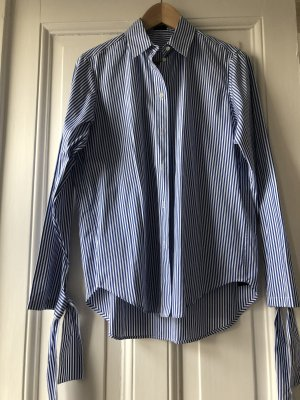 Joseph Streifenbluse gestreifte Bluse Hemdbluse Blau Weiß 38
