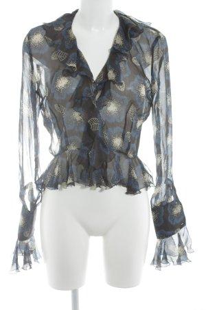 Joseph Transparenz-Bluse florales Muster Elegant