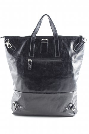Jost Shopper zwart wetlook