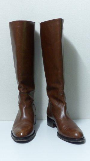Botas estilo militar coñac-marrón Cuero