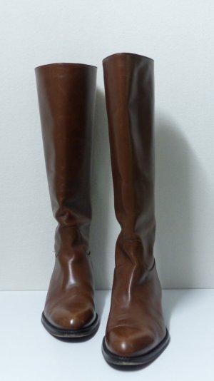 Jackboots cognac-coloured-brown leather