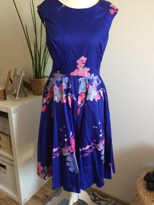 Joules Kleid XS 34 neu lila geblümt floral Blumen Sommerkleid Hochzeit