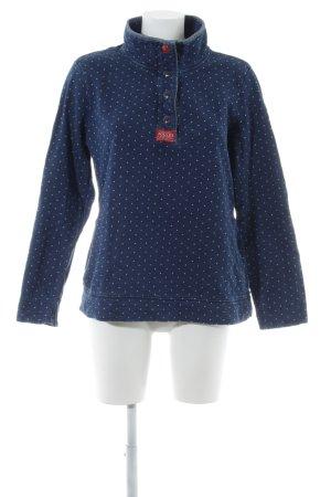 Joules Oversized Shirt stahlblau Punktemuster Brit-Look