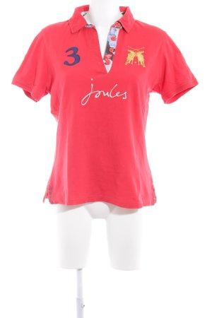 Joules Polo-Shirt rot klassischer Stil
