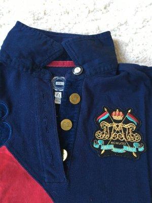 Joules Poloshirt Piqué mit Nicki dunkelblau pink einmal getragen
