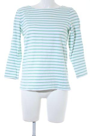 Joules Maglietta a righe bianco-verde chiaro strisce orizzontali stile casual