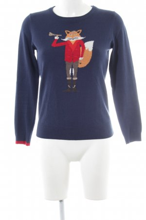 Joules Strickpullover Motivdruck Casual-Look