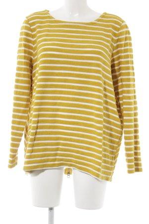 Joules Sweatshirt dunkelgelb-wollweiß Streifenmuster Casual-Look