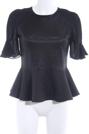 Jovonna London Kurzarm-Bluse schwarz Elegant