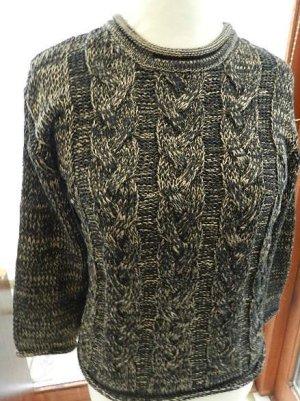 Joy Kraagloze sweater donkerbruin-room Acryl