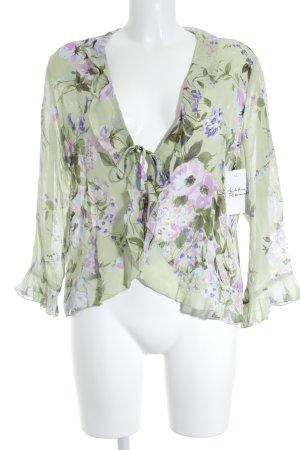 Joy Langarm-Bluse florales Muster Casual-Look