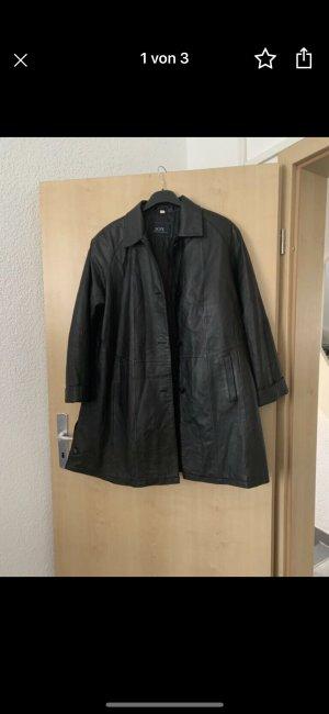 Joy Manteau en cuir noir