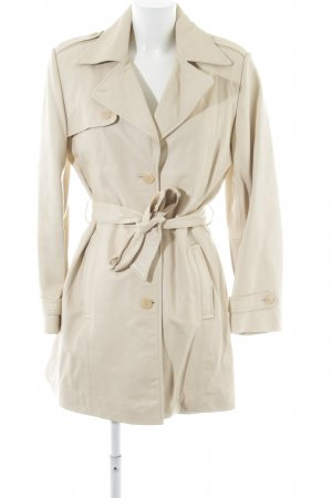Joy Leather Coat natural white business style