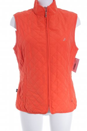 JOY Sportswear Sports Vests neon orange quilting pattern casual look