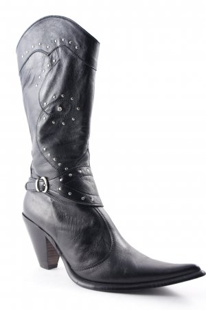 Joy Wendel Western Boots black-silver-colored country style
