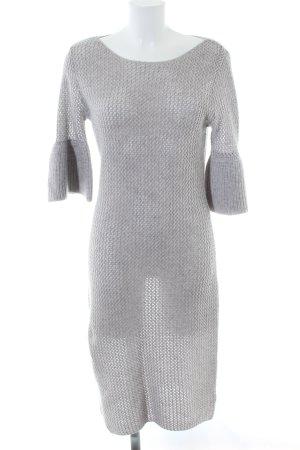 Joyce & Girls Abito di maglia grigio chiaro puntinato stile casual