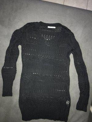 Gehaakte trui zwart Katoen