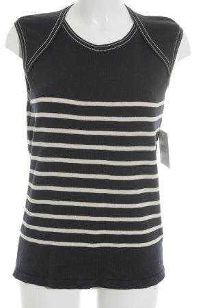 JPG JEAN'S Strickshirt creme-dunkelblau Streifenmuster Casual-Look