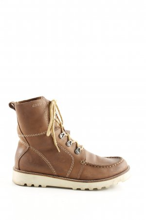 JS Lace-up Boots brown casual look