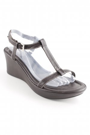 JS Wedge Sandals dark brown casual look
