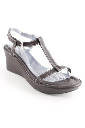 JS Wedges Sandaletten dunkelbraun Casual-Look