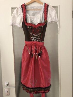 Spieth & Wensky Vestido Dirndl marrón-rojo