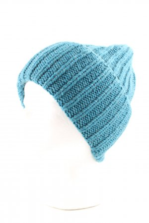 Jucca Beanie turquoise cable stitch casual look