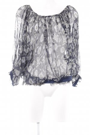 Jucca Transparenz-Bluse Blumenmuster Casual-Look