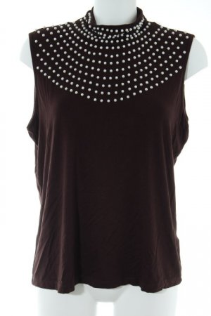 Judith Williams Basic Top dunkelbraun Casual-Look