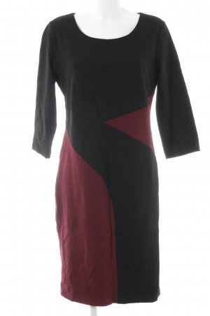 Judith Williams Etuikleid schwarz-dunkelrot Colourblocking Elegant