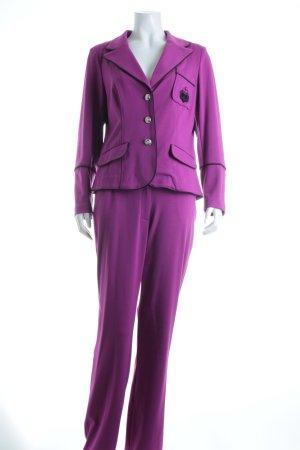 Judith Williams Hosenanzug violett-schwarz Eleganz-Look