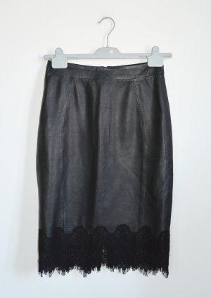 Judith Williams I love Milano Falda de cuero negro Cuero