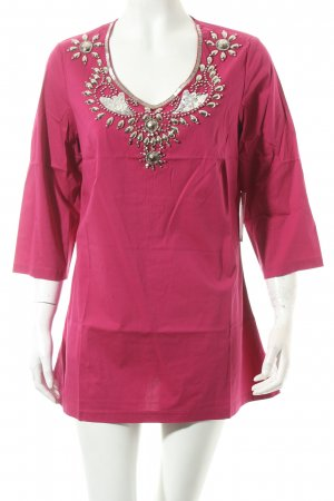 Judith Williams Longshirt magenta-silberfarben Eleganz-Look