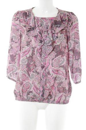 Judith Williams Blusa collo a cravatta rosa-bianco sporco motivo astratto
