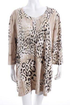 Judith Williams Shirt beige-schwarz Leomuster Casual-Look