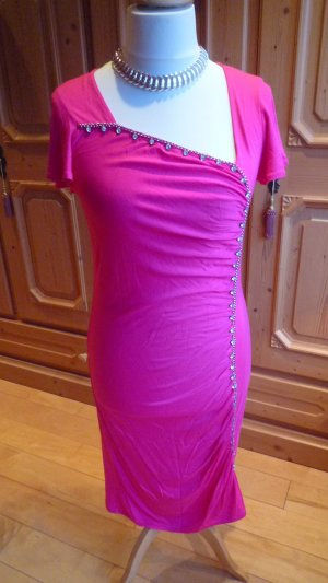 Judith Williams Stretchkleid Kofferkleid Pink mit Strassborte Gr. 38