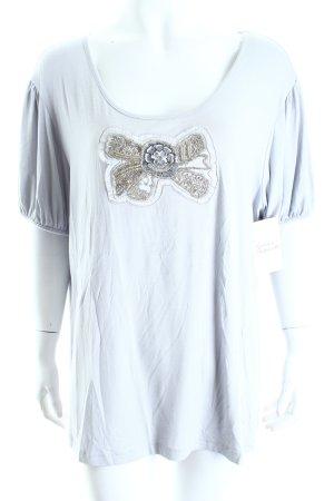 Judith Williams T-Shirt hellgrau klassischer Stil