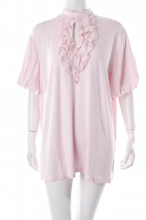 Judith Williams T-Shirt rosa Spitzenbesatz