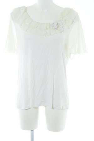 Judith Williams Camiseta blanco puro elegante