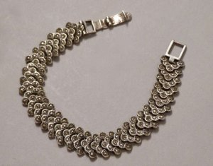 Vintage Bracelet silver-colored real silver