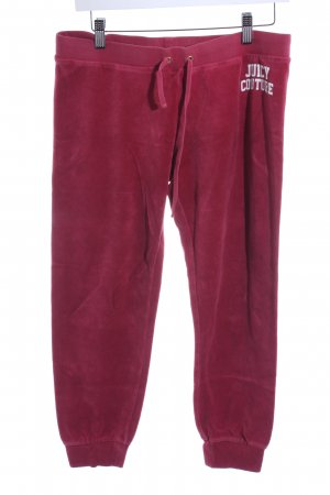 Juicy Couture 3/4-broek donkerrood pluizig