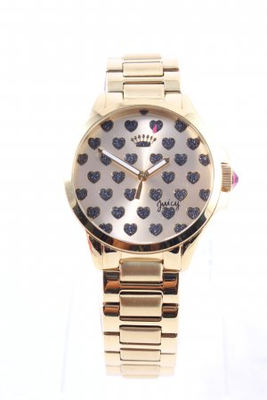 Juicy Couture Analog Watch gold-colored-pink Herzmuster street-fashion look