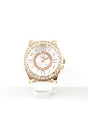Juicy Couture Montre analogue blanc-doré style extravagant